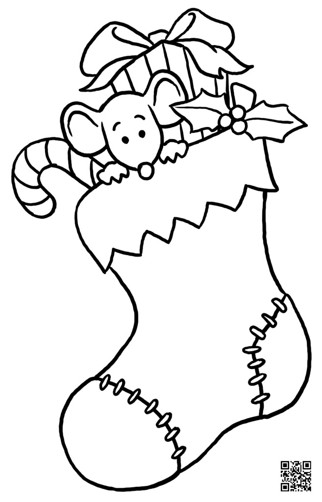 Christmas Stocking - Coloring Page