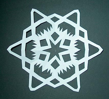 How to Make Paper Snowflakes Step 8