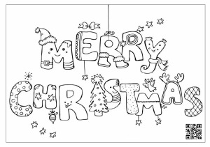 Merry Christmas Print Out Coloring Page