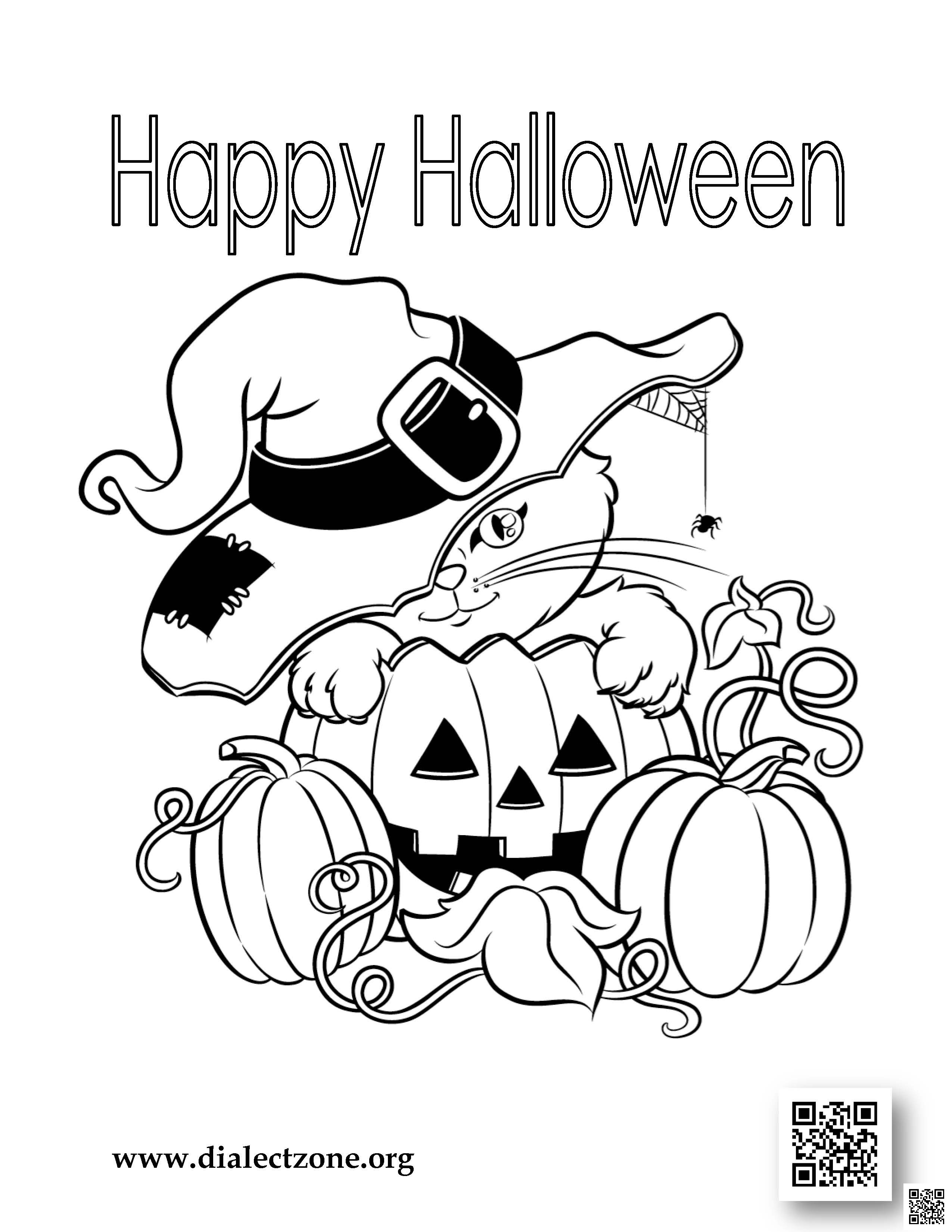 halloween 2016 coloring contest